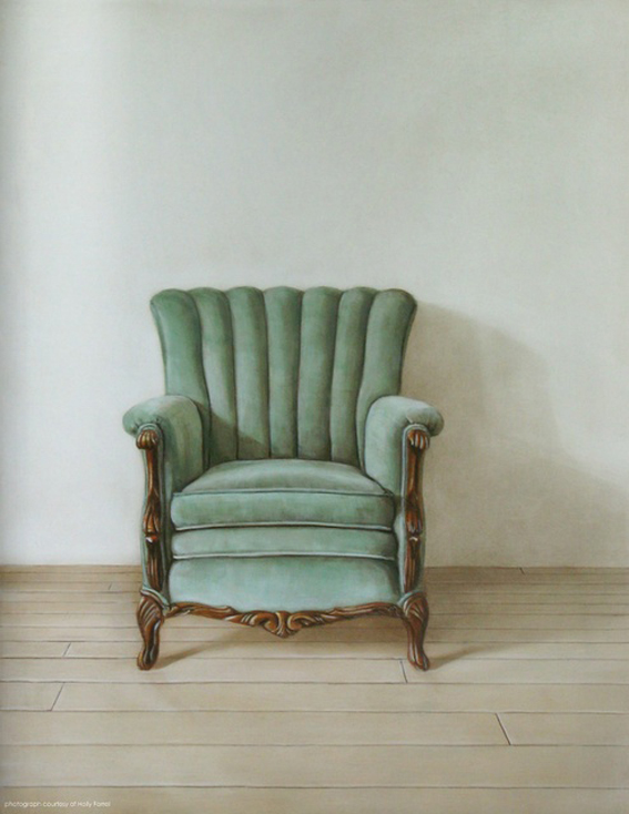 light green armchair
