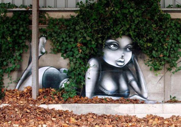 Streetart_greenhair