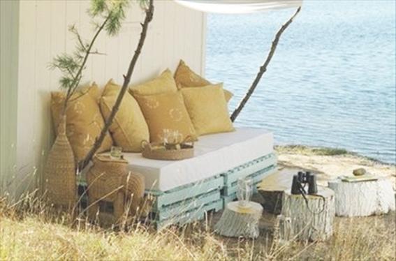 Salotto Da Giardino Con Camino External Design : Salotto da giardino con pedane pallet external design