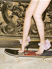 fashion on a skaterboard