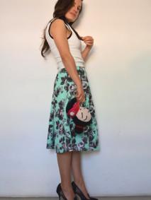 50's inspired floral print skirt