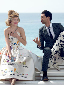 Natalia Vodianova + Adrien Brody Have a Romantic Getaway for Vogue by Peter Lindbergh