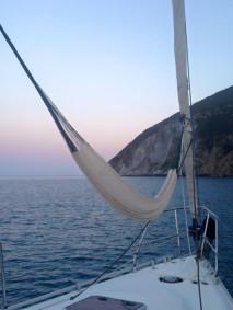 hammock on a boat