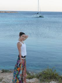 boho chic floral skirt