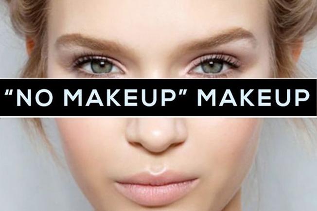 No makeup makeup the light trend