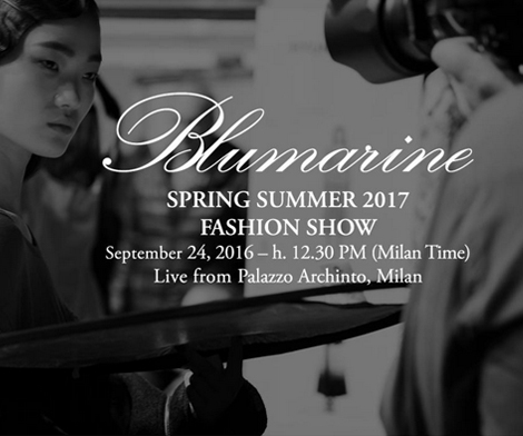 SAVE THE DATE Blumarine SS 17 live