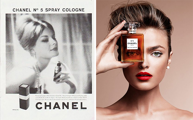 Nuovo Chanel N°5, chanel N°5 campagna pubblicitarie vintage