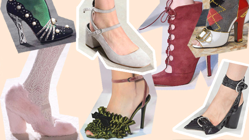 Trend shoes AW 2016: retrò silhouettes and extravaganceextravagance