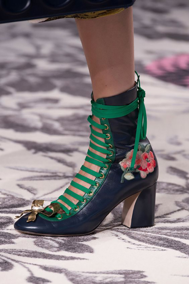 Green inspiration #181_floral shoes at Gucci