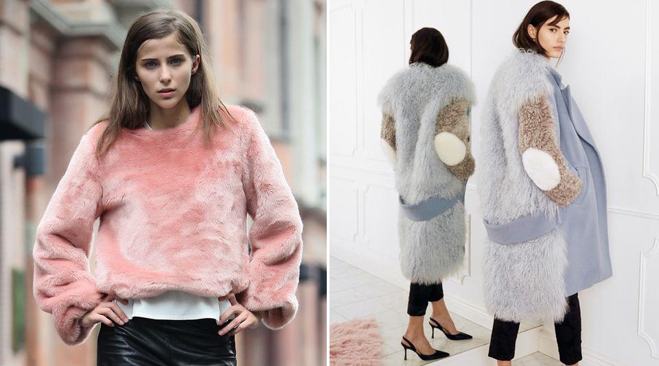 Fluffy coat, the Linus' Blanket for winter