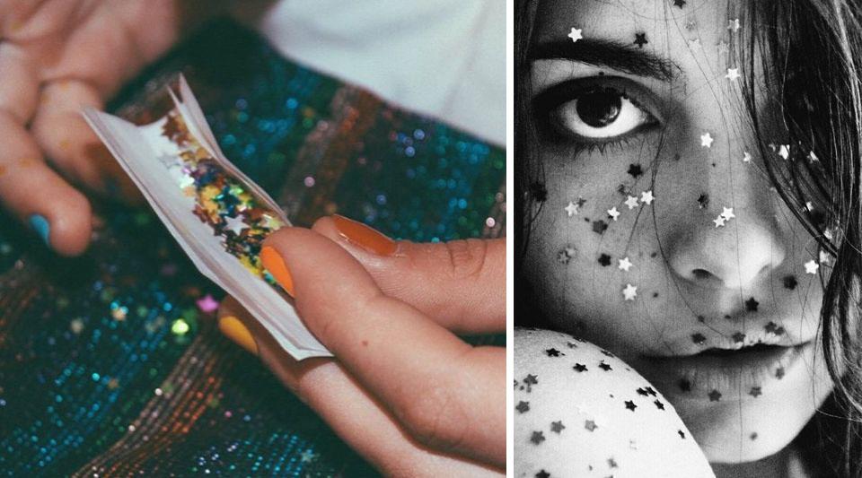 Truccarsi con le stelle, idee makeup, makeup per carnevale, editoriali make up con stelle, marinella rauso, consigli di bellezza ilovegreeninspiration