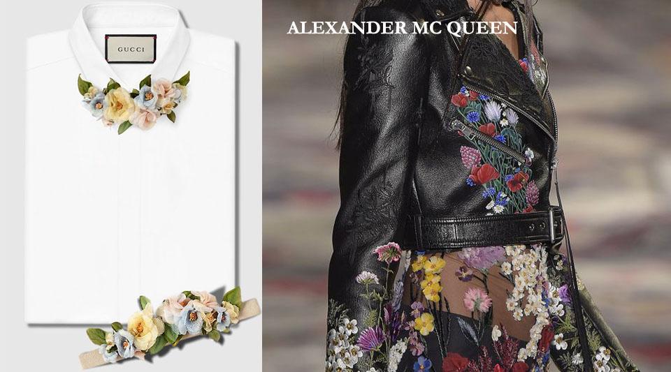 marinella rauso, ilovegreeninspiration.com, Floral trend, alexander mc queen primavera \ estate 2016