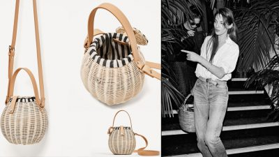Zara basket bags. Jane Birkin is among the low cost multi-brand's style icons