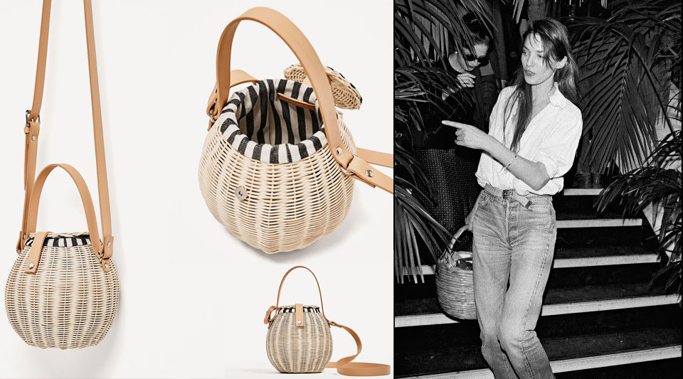 Zara Basket Bags Jane Birkin Is Among The Low Cost Multi Brand S Style Icons
