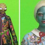 Matthew Barney, Alieni vestiti Gucci, gucci and beyond campaign,