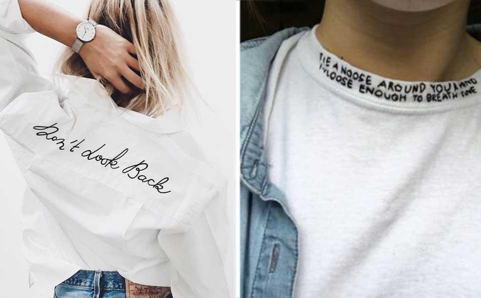 t-shirt con scritte, t-shirt parlanti, tendenze primavera estate 2017