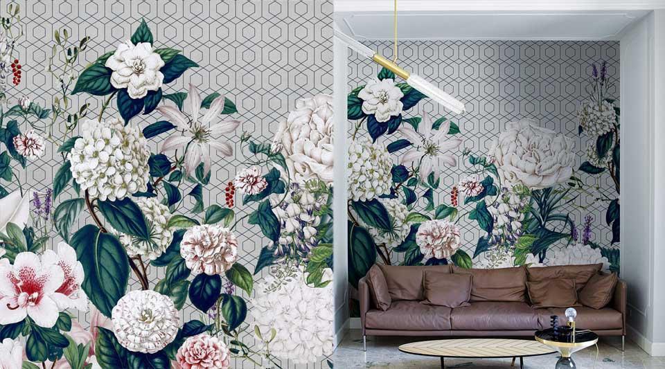 Parati floreali London art: ecco 5 esempi che cambieranno la tua casa
