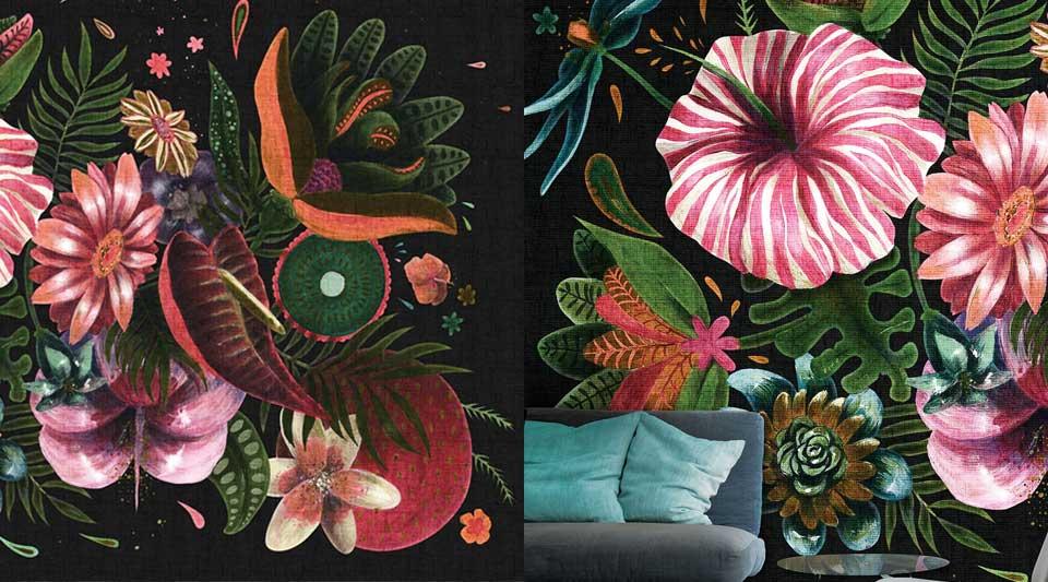 Parati floreali London art, come arredare una casa, come mettere un parato floreale