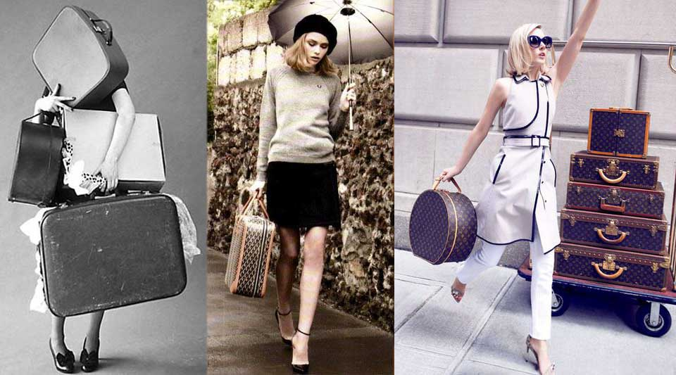Luggages in vogue. What to put counts as much as the container