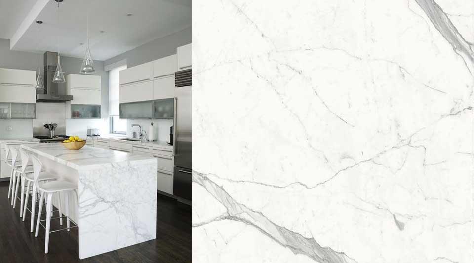 Calacatta marmo quasi bianco, mobili in marmo calacatto, bagni moderni di lusso, gre calacatta