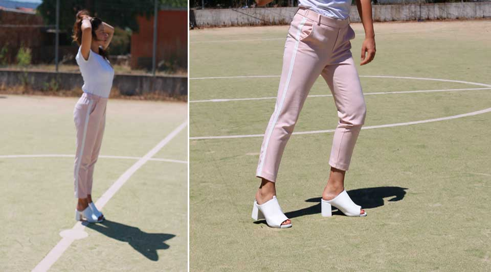 Contrasti della moda, fashion blogger 2017 outfit, pink&white outfit, cool outfit di zara estate 2017, sporty chic outfit 2017 zara,