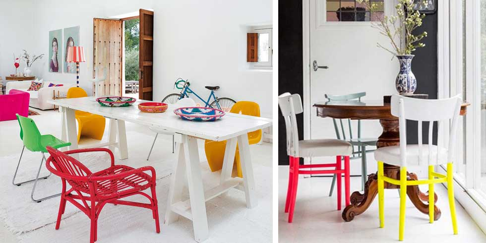 Colored chairs: put the accent on style, easily and effectively, for living space