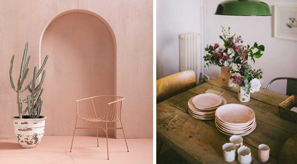 Pink blush home decor. When the interior is softly colored