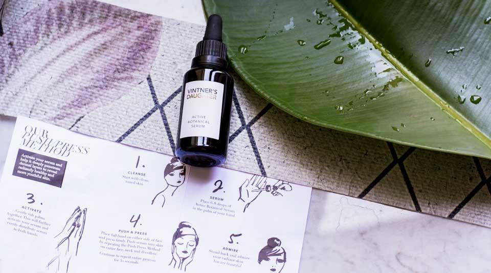 Bellezza bio, the beautyaholic shop, Active Botanical Serum Vintner's Daughter, The Organic Pharmacy collagen mask
