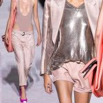 Tom Ford primavera estate 2018, stile sporty chic, nude look and silver, california look